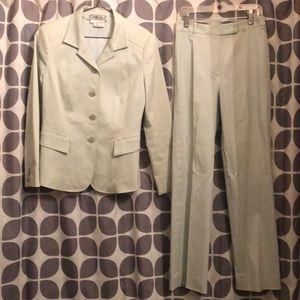 Rare baby blue size 2 Carlisle cotton spandex suit